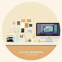 The Desk Project by Kaeli Justus, via Behance