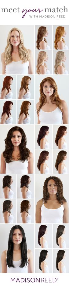 """""""MEET YOUR MATCH One size does not fit all when it comes to hair color. Take our Color Quiz at madison-reed.com to find your perfect shade. """""""
