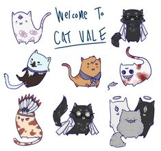 Cat Vale! Welcome to Night Vale. This is adorable. But I can't identify who the black-and-white cat is supposed to be. Anyone have an idea?