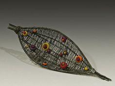 woven brooch #3 by Laura Tabakman, via Flickr