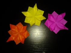 Origami Flowers Folding Instructions - Origami Rose, Origami Lily and Origami Tulip Photos and Diagrams