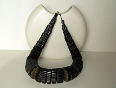 Black Statement Necklace made of corrugated by PaperStatement, $79.00