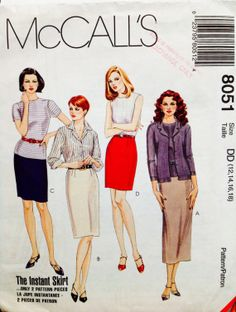 Uncut McCall's 8051 Misses Skirts In Four Lengths by Lonestarblondie, $5.00