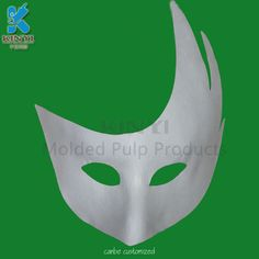 Custom biodegradable bagasse pulp beautiful paper mask for dancing party