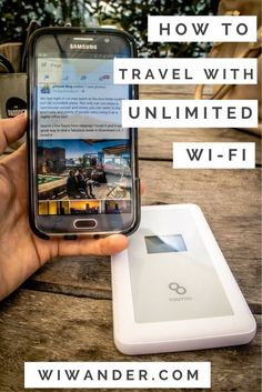 to travel with unlimited Wi-Fi with WiWander How to travel with unlimited wifi. WiWander is a portable, pocket-size Wi-Fi router, and a must-have travel accessory. Travel Packing, Solo Travel, Budget Travel, Packing Tips, Usa Travel, Travel Luggage, Travel Plane, Europe Packing, Traveling Europe