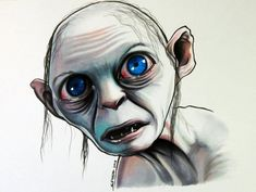 Gollum - Copic Marker Drawing by LethalChris