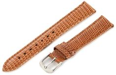 Hadley-Roma Women's LSL715RS 160 16-mm Light Tan Genuine Java Lizard Watch Strap. Genuine Java Lizard; Water Resistant Lining Leather. Medium Padding with Matching Colored Stitching. Ladies Regular Length - 105x65mm. 16mm lug end x 14mm buckle end. Adjust length and fit with tang style buckle.