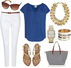 Blue and white - one of my favorite color combinations.