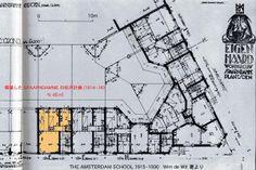 57-エイヘンハールト集合住宅 Eigen Haard Housing (1913~19) Michel de Klerk / Amsterdam Hol. No.1/35の画像:近代建築ゼミ Modern Architecture