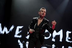 Dave Gahan of Depeche Mode performs on stage at First Direct Arena on November 13 2013 in Leeds United Kingdom