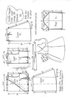 Шитье Vestido transpassado evasê com manga Techniques Couture, Sewing Techniques, Dress Sewing Patterns, Clothing Patterns, Fabric Sewing, Skirt Patterns, Blouse Patterns, Fashion Sewing, Diy Fashion