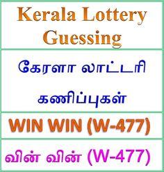 KERALA LOTTERY GUESSING WIN WIN W-477 | ON 10-09-2018