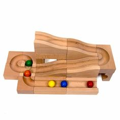 Wood Marble Runs and Kugelbahns from Switzerland and Germany