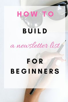 How to build a newsletter list for beginners. Using Mailchimp for free or Convertkit for free, claim your free month of Convertkit here to get started. Click here to find out more.