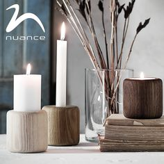 The beautiful new range of Baldur candle holders from Nuance are a perfect blend of Scandinavian style  rustic charm. The top and bottom slots are different diameters meaning each piece can hold a large  slim candle. #Nuance_candle  http://www.inthehaus.co.uk/store/results.php?s=baldur