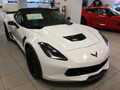 2016 Corvette Z06 Convertible in Arctic White with black interior and the 2LZ package.