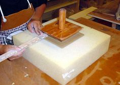 Japan Pottery Tools - using a plate maker to get even sized and shaped plates.