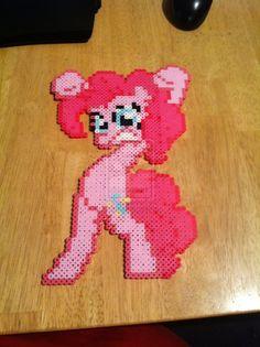 Hasbro, My Little Pony, MLP, Pinkie Pie, hama Beads, Perler Beads  by ~hoodoosteve on deviantART