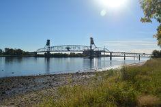 Burlington-Bristol Bridge, as seen from Maple Beach, PA.