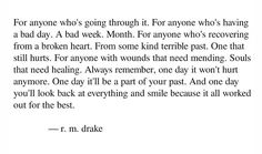 Rm Drake, Bad Week, Have A Day, Always Remember, It Hurts, Healing, Words, Horse