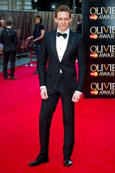 Tom Hiddleston wearing Alexander McQueen at the Olivier Awards 2014