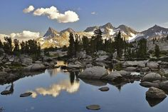 Ansel Addams Wilderness viewing the Ritter Range in Yosemite's back country by Steve Dunleavy