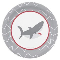 #party - #Shark Paper Plates