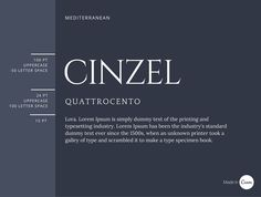15 Cinzel is considered contemporary, although it was inspired by classical Roman style. With the delicate strokes of Quattrocento and Lora's curves, this is a fine combination to use for headings or for invitations.