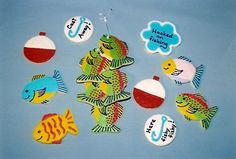 Fish on a line cookies