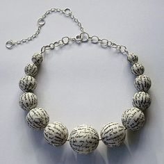 Text on beads.