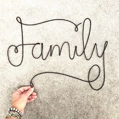 Handmade Metal Family Sign Handmade Metal Words Gallery Wall Art Childs Name Sign Girls Name Sign Family Collage Wall art Family Wall Collage, Collage Mural, Family Wall Decor, Art Mural, Wire Wall Art, Metal Wall Art, Art Atelier, Wire Letters, Sculpture Textile