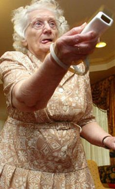 The funniest pictures of old people playing Wii (10 photos).  Never too old to have fun! :)