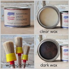 I LOVE American Chalk paint!! Waxing furniture with American Paint Company all natural wax