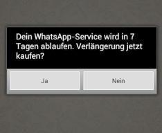 Bestätigt: WhatsApp für Android ist jetzt kostenpflichtig -   Bezahlaufforderung kommt sieben Tage vor Ende der Laufzeit