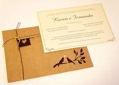 FICA-A-DICA.com: Convites de Casamento com Pássaros