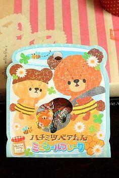Japanese Cute Seal Flakes - Honey Bear