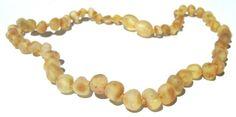 Raw Amber Teething Necklace - Lemonade Cinnamon Sprinkle