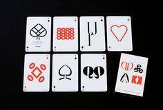 Jim Sutherland designed playing cards based on typography  brainpickings.org
