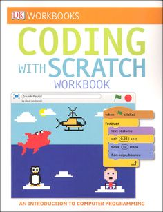 """For Lucas """"Help kids learn to code with DK Workbooks: Coding with Scratch . Computer coding is quickly becoming a necessary and sought-after skill. It is being incorporated into curriculum, beginning as early as"""" Computer Class, Computer Coding, Computer Science, Basic Programming, Computer Programming, Wedo Lego, Teaching Kids, Kids Learning, Learning Websites"""