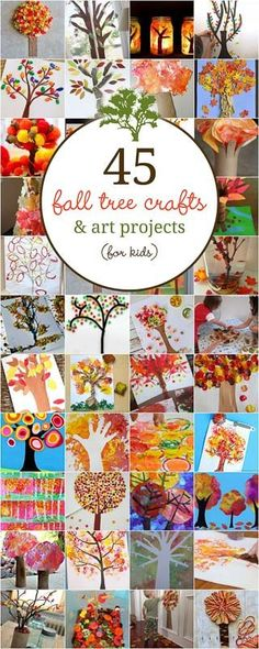 These fall tree crafts are beautiful! Pick one and make it with the kids! via…