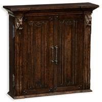 Dark oak Linenfold Panelled Dartboard Cabinet