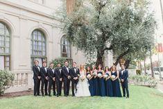 Venue: http://ebellla.org | Photography: http://www.sunandsparrow.com | Event planning: http://www.amygreenbergevents.com/ | Wedding dress: http://moniquelhuillier.com | Bridesmaids' dresses: http://www.watters.com/wtoo/wtoo-brides/ | Groom's attire: http://carrollandco.com/ | Groomsmens' attire: http://theblacktux.com | Read More: https://www.stylemepretty.com//www.stylemepretty.com/vault/image/6275117