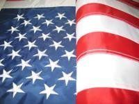 USA Flag 5X8 Foot Nylon by NEOPlex. $28.99. This 5 x 8 foot American flag is made from heavy denier nylon. It has hand sewn stripes & embroidered stars that make this US flag not only beautiful, but long lasting too. 2 brass grommets on the inner fly side for easy hanging. Go USA!. Save 71% Off!