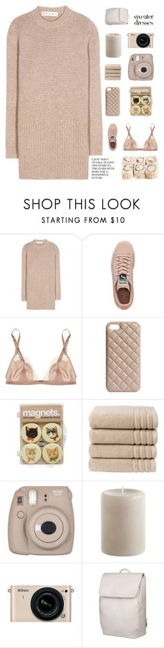 """sweater weather"" by naturitve ❤ liked on Polyvore featuring Marni, Puma, Carine Gilson, The Case Factory, Christy, Fujifilm, Pier 1 Imports, Nikon and Matt & Nat"