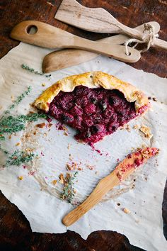 Raspberry Galette with Lemon Thyme Crust