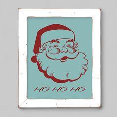 Holiday Printable  Ho Ho Ho Santa by Fishtitch on Etsy  #christmas #printable #santa #hohoho #retro #vintage