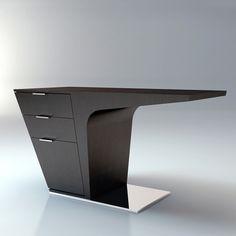 Future, Futuristic Furniture, Mercer Desk, Futuristic Interior, Wenge, Ted Toledano, Futuristic Desk, Futuristic Table, modern furniture by FuturisticNews.com