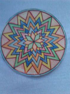 mandala tekenen en kleuren