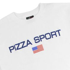 Pizza Sport Logo T Shirt in White by Pizza Skateboards