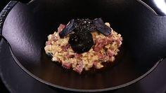 - Crozets au jambon- Truffe noire (champignons)- Réalisation